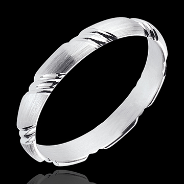 gift Braided White Gold Wedding Ring
