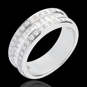 gift women Heiress half eternity ring white gold paved 1 carat 44